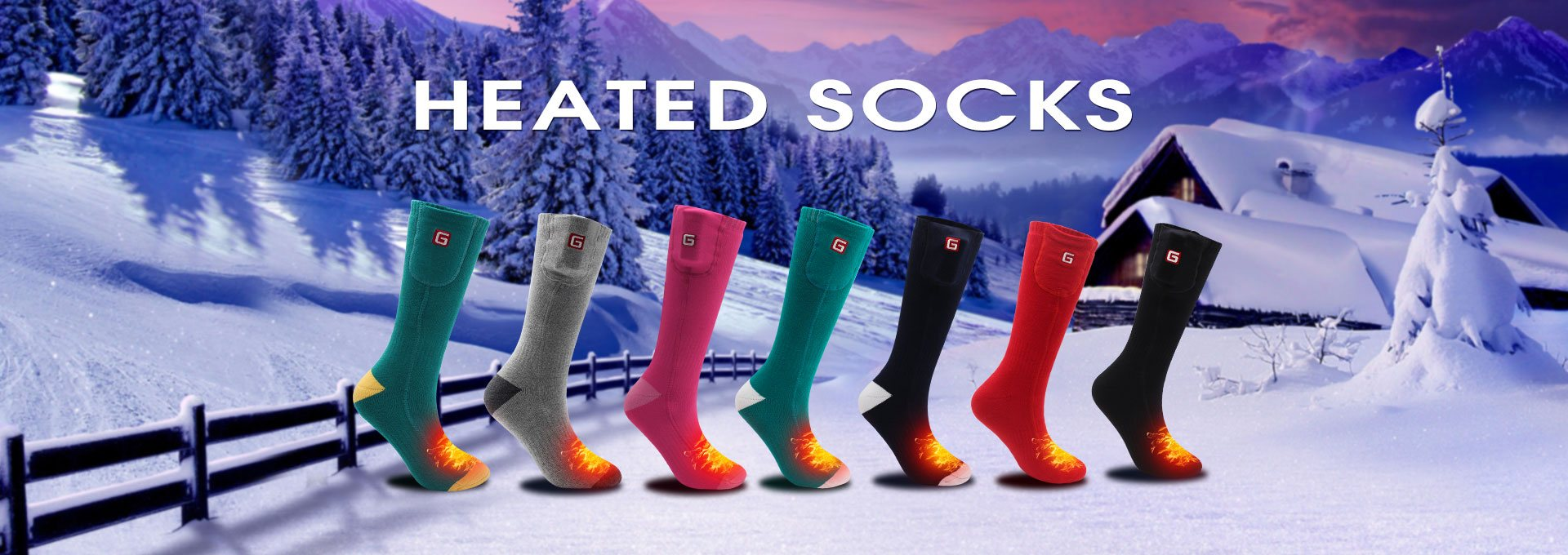 ELECTRIC RECHARGEABLE BATTERY HEATED SOCKS WARM WINTR COLD WEATHER FOOT WARMER