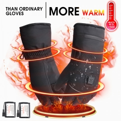 Rabbitroom Electric Heated Gloves with Rechargeable Li-ion Battery, Waterproof Insulated Heating Driving Gloves,Thermal Arthritic Gloves for Unisex.