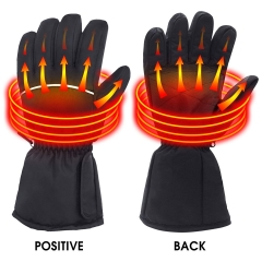 Rabbitroom Battery Powered Heated Gloves for Men and Women, Waterproof Insulated Electric Heating Gloves for Winter Outdoor Camping Hiking Hunting