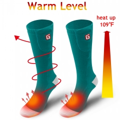 Rabbitroom Heated Socks Electric Battery Powered Thermal Insulated Socks for Men&Women Winter Warm Cotton Crew Socks