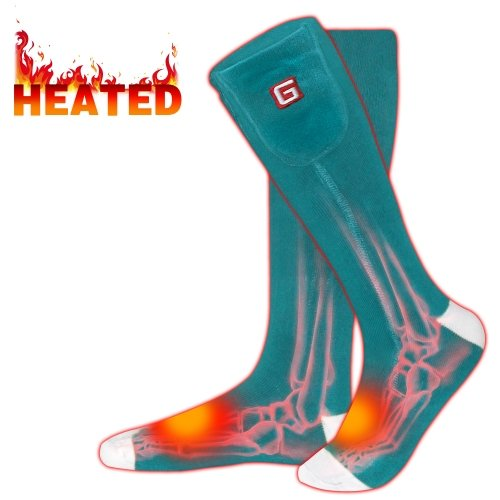 Rabbitroom Heated Socks with Rechargeable Li-ion Batteries, Electric Thermal Insulated Socks for Arthritis, Winter Thick Heating Foot Warmer
